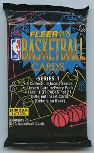 Lot of 2 Sealed Jumbo Packs Fleer 1994-95 Basketball Cards Series 1 JORDAN HOT??