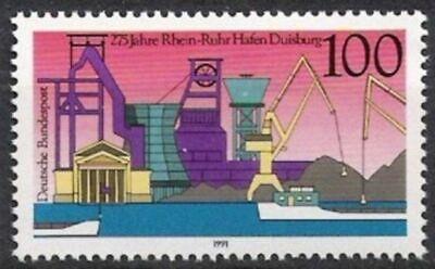 Bund Nr.1558 ** Rhein-ruhr-hafen Duisburg 1991, Postfrisch Ruf Zuerst