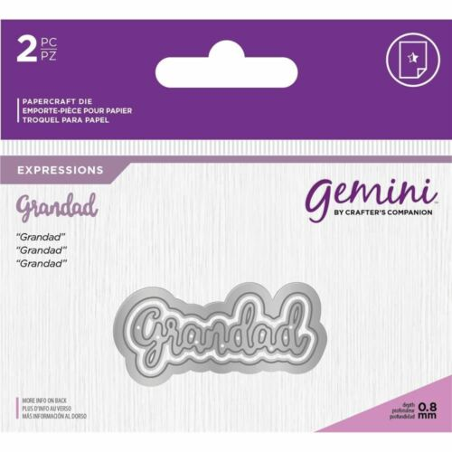 Gemini Essentials Only Mini Words Collection Craft Cutting Dies Grandad