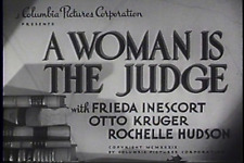 A WOMAN IS THE JUDGE (1939) DVD FRIEDA INESCORT, OTTO KRUGER