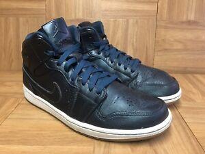 Rare Nike Air Jordan 1 Retro Mid Nouveau Space Blue Gum Light Sz