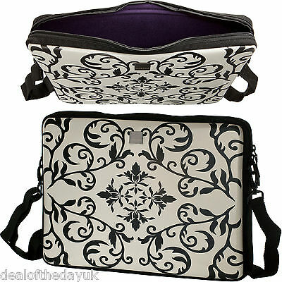 """High Quality Glossy 13"""" Inch Laptop Sleeve MacBook Pro Air 13 PC 13.3 With Strap"""