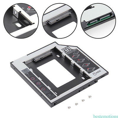 9.5mm Universal SATA HDD SSD Hard Drive Caddy fr CD/DVD-ROM Optical Drive Bay