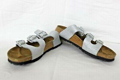 Pre Owned Birkenstock Papillio Florida Sandals Silver Women's 245 Size 7 7.5   eBay