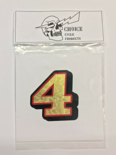 """6/"""" UNIVERSAL NUMBER DECAL 0-9 GOLD LEAF motorcycle plate kart race fender body"""
