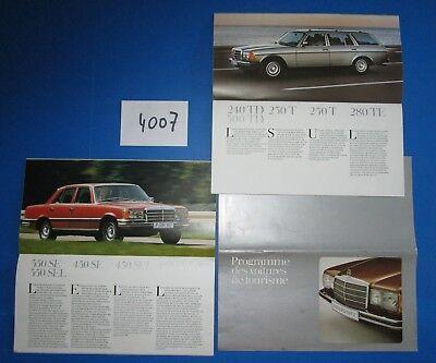 Betrouwbaar N°4007 / Mercedes : Catalogue Des Voitures De Tourisme Texte Français,aout 1979