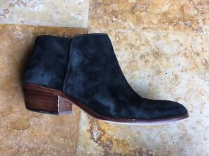 e705d89700b7 Image is loading Sam-Edelman-Petty-Booties-Suede-Ankle-Boots-Black-