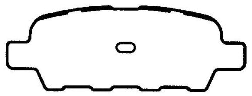 SMD905 REAR Semi-Metallic Brake Pads Fits 02-06 Nissan Altima