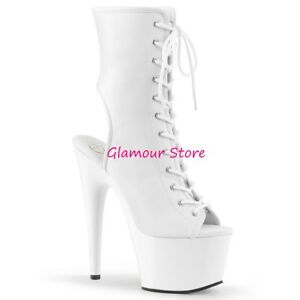 35 Sexy Bianco 18 Glamour Opaco 41 Al Stivaletti Spuntati Plateau Tacco Dal wqnrFx7IqB
