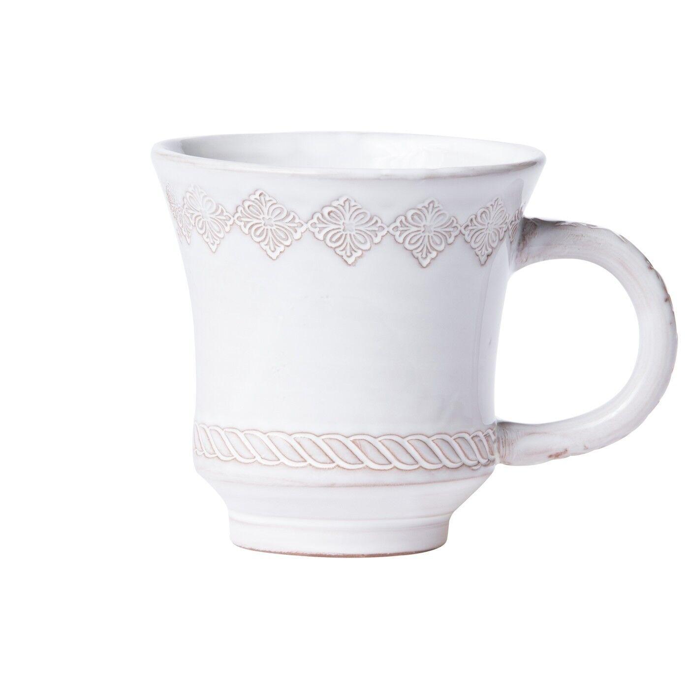 Vietri Bellezza Stone blanc Mug - Set of 4