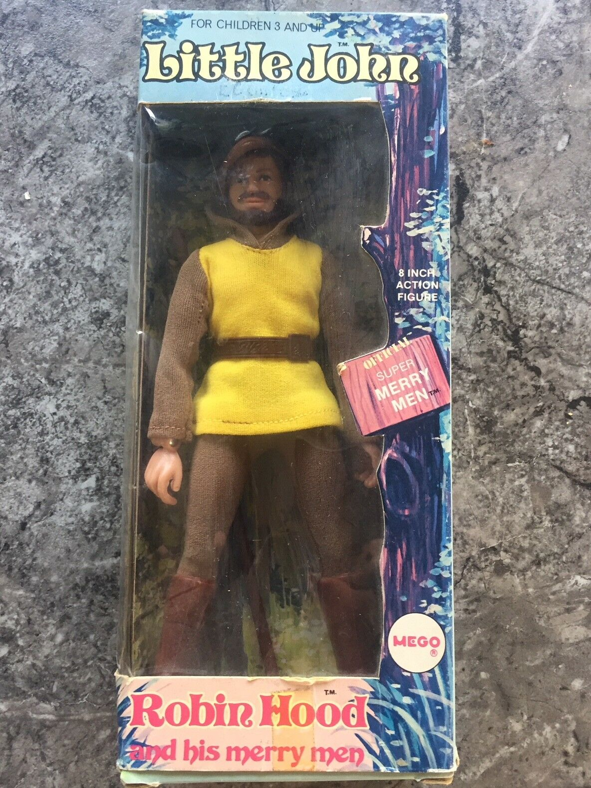 Vintage Mego Little John Figure - original & complete with Box Robinhood 8  1974