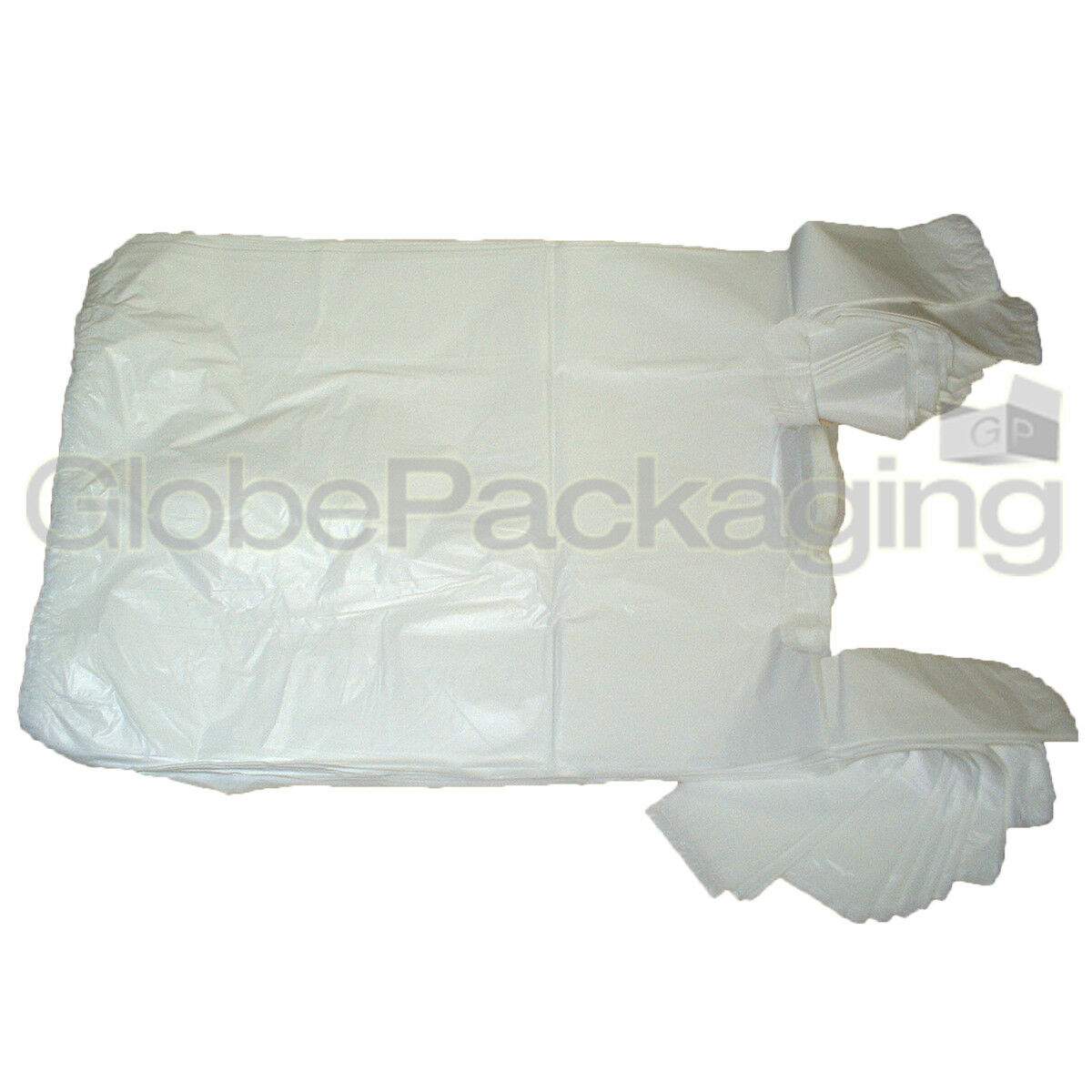 """500 x WHITE PLASTIC VEST CARRIER BAGS 10x15x18/"""" SMALL STRONG 15MU *OFFER*"""