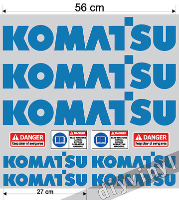 Latest Collection Of Komatsu Stickers Decals Mini Digger Excavator Machine Pelle Excavateur Bagger Factories And Mines