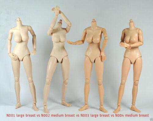 1//6 Scale Female Nude Figure Body N001 Large Breast Pale Skin Tone ❶USA❶