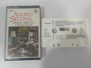 Andres-Segovia-Obras-Breves-Espanolas-1986-Fonomusic-Cinta-Tape-Cassette