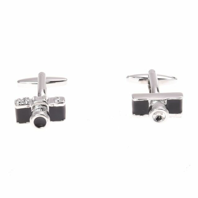 Black Cufflinks For Shirt Plane Camera Zirconia Dragon Ball Blocks S5R9