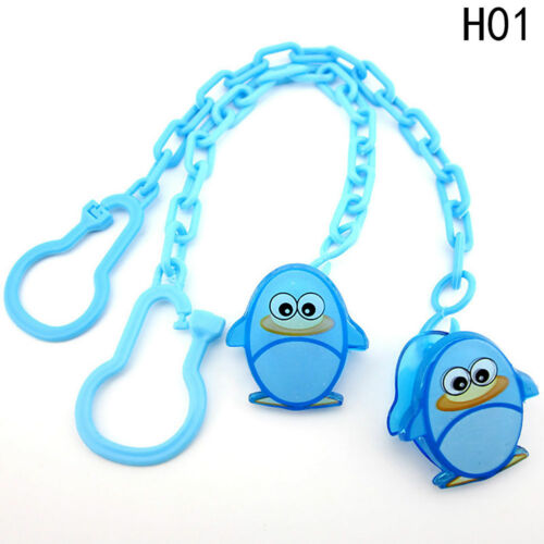Soft Animated Baby Girl Boy Dummy Pacifier Soother Nipple Chain Clip Toy Fine