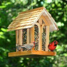 Hanging Mountain Chapel Wild Bird Feeder Seed Wooden House Outdoor Garden Decor