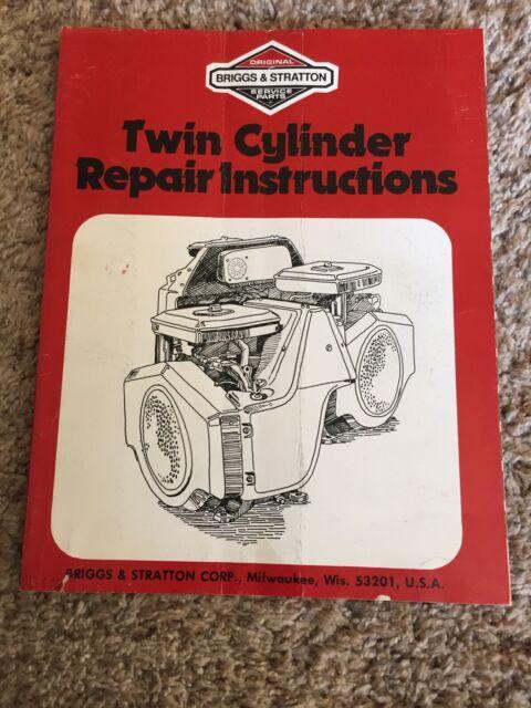 Briggs  U0026 Stratton Twin Cylinder Repair Instructions Manual