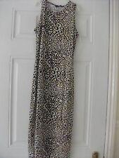 animal print sleeveless  maxi  party QUIZ dress size 10 NEW