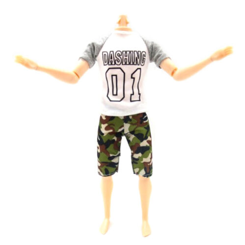 1set casual t-shirt+pants dolls clothes outfit for  dolls accessory/_sh