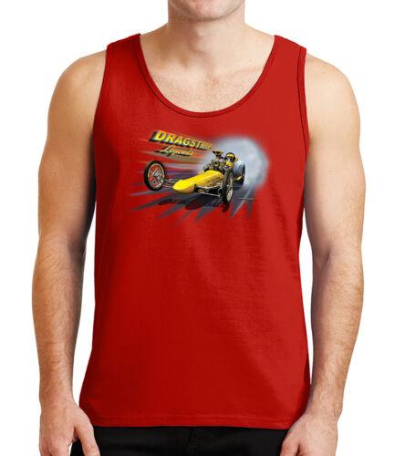 1581C Drag Racing Car Mens Tank Top Dragster Legends Tanks for Men