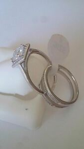 New-ladies-Fancy-925-Sterling-Silver-cocktail-Ring-Cz-Stones-Size-8-double-band