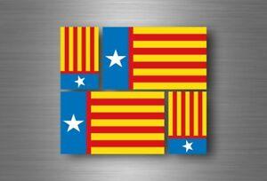 4x autocollant sticker voiture vinyl adhesif drapeau valence espagne valencia