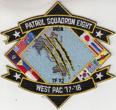 Patrol Squadron Eight West Pac '17-'18 Patch Militaria