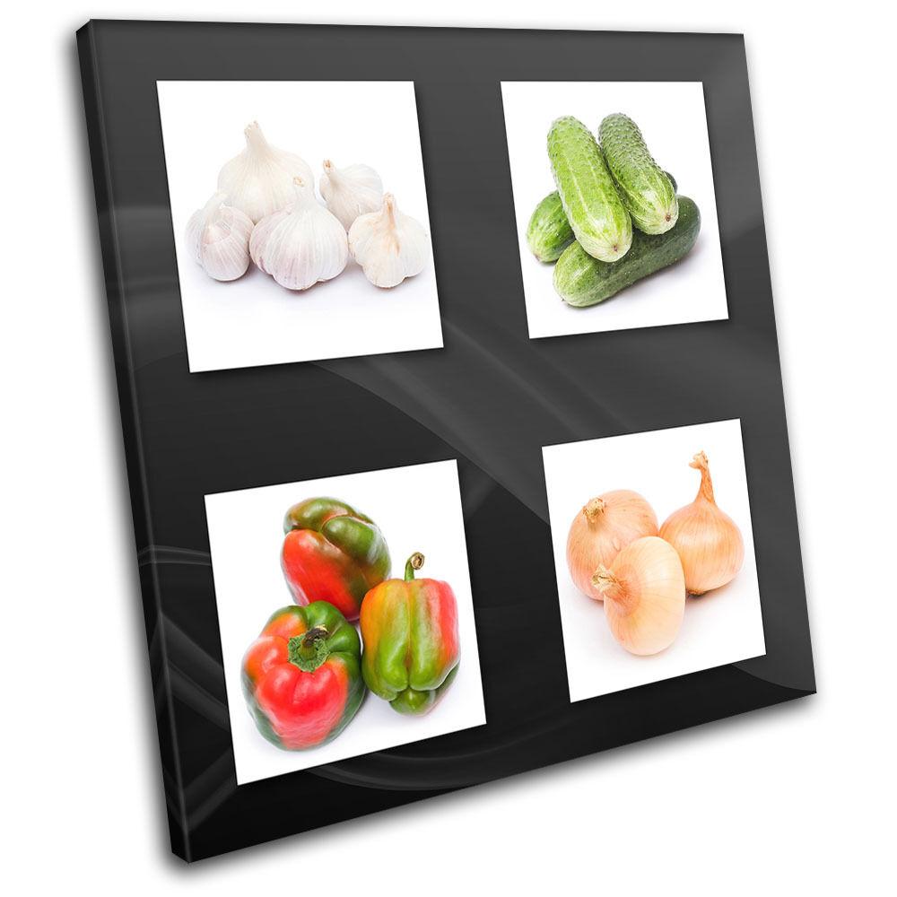 Fresh Vegetable Food Kitchen SINGLE TOILE murale ART Photo Print