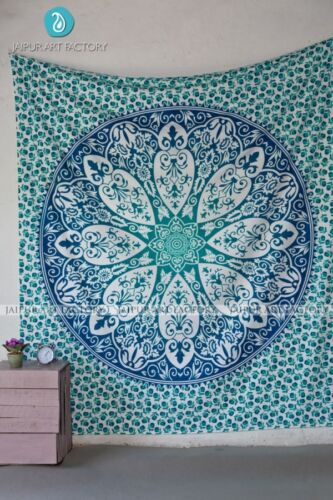 Indian Mandala Tapestry Hippie Wall Hanging Bohemian Bedspread Throw Home Decor
