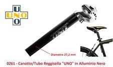 Tubo/Canotto ReggiSella UNO in Alluminio Nero 27,2 per bici 26-28 Corsa Vintage