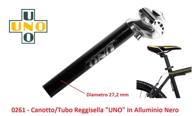 Tubo//Canotto ReggiSella UNO in Alluminio Bianco 25,4 per bici 26-28 Corsa Pista