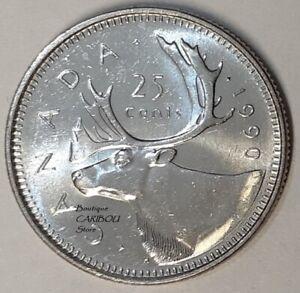 1990-Canada-25-Cents-BU