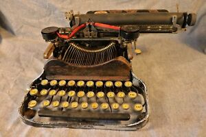 Antique L.G. Smith & Corona Junior Typewriter AS IS Restoration or Display