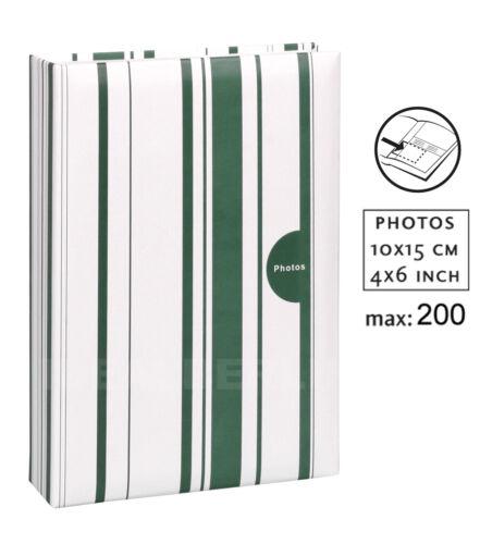 Color Stripes Einsteckalbum für 200 Fotos in 10x15 Foto Album Einsteck