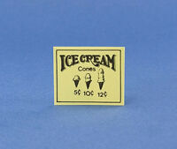 Dollhouse Miniature Ice Cream Shop Sign #MUL3388