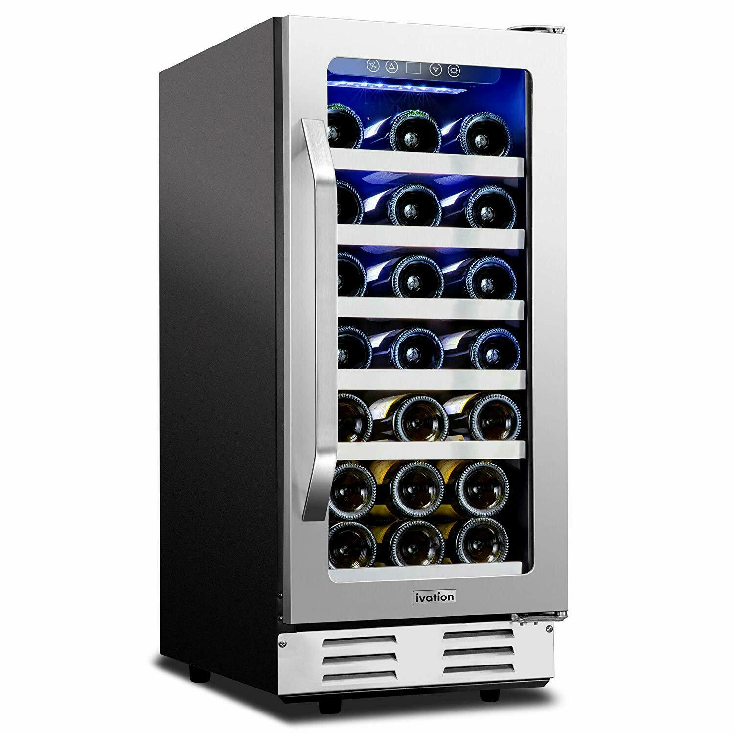 Edgestar Bwr301bl 30 Bottle Built In Single Zone Wine Cooler 15 For Sale Online Ebay