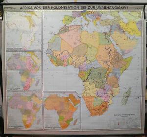 Karte Afrika Kolonien.Details Zu Schulwandkarte Wandkarte Schulkarte Karte Afrika Von Kolonien Bis 1967 208x188cm