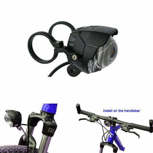 E-bike DC12-80V LED Head Light Front Fork Handlebar Lamp Horn Scooter W// Bracket