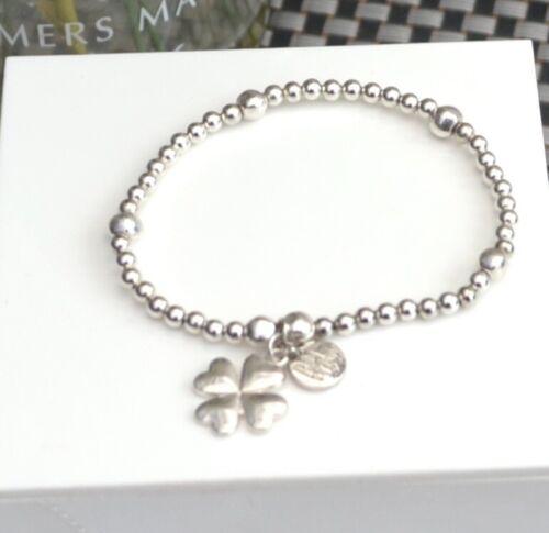Bijoux  Stacking Bracelet 4 Leaf Clover Or Heart Charm Bracelet