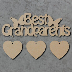 Wooden MDF Laser Cut Only the best Dads get promoted to Grandfather