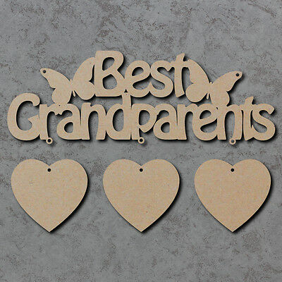 Best Grandparents Sign Blank - Fathers Day Laser Cut Wooden Craft Shapes