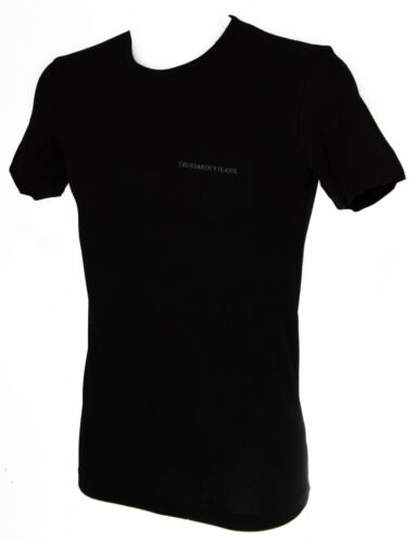 T-shirt maglietta giro uomo TRUSSARDI JEANS a.TR0079 taglia XL c.020 NERO BLACK