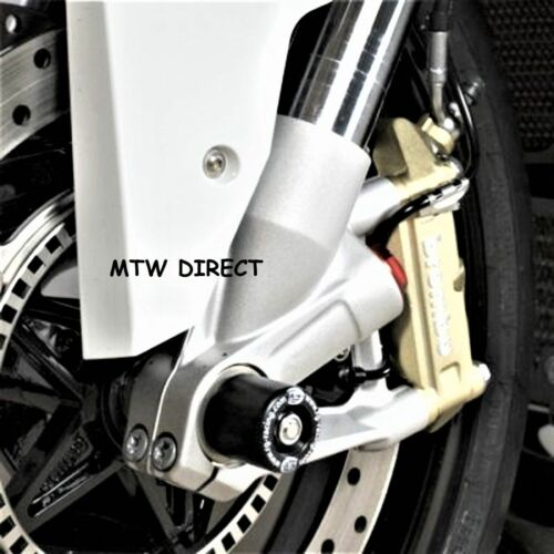 R/&G RACING PAIR  BLACK FRONT FORK PROTECTORS fit  BMW S1000R 2014-2017