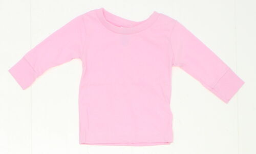 NEW Rabbit Skins Toddler Long Sleeve 100/% Cotton T-Shirt Pink 12 Months 03129