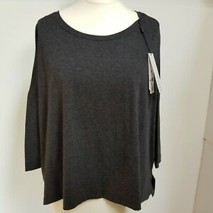 Roman-Originals-Basic-Grau-T-Shirt-Top-Groesse-16-Nagelneu-mit-Tags