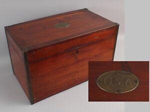 RARE Large Antique Civil War USA Medical Dept. Apothecary Pannier Medicine Chest
