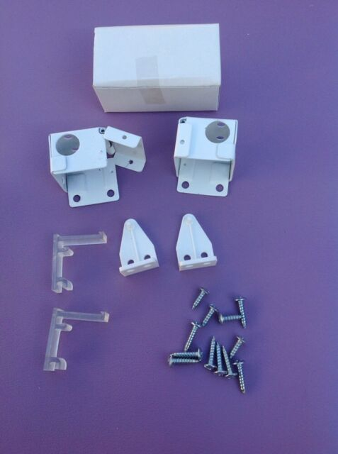 1 Quot Mini Blind End Supports Brackets With Hardware White