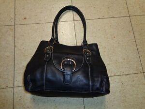 Black Leather Shoulder Bag Handbag